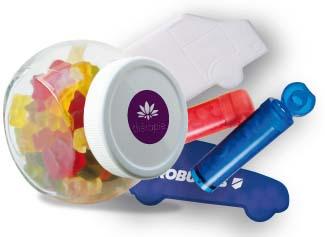 Plastové krabičky a skleněné dózy