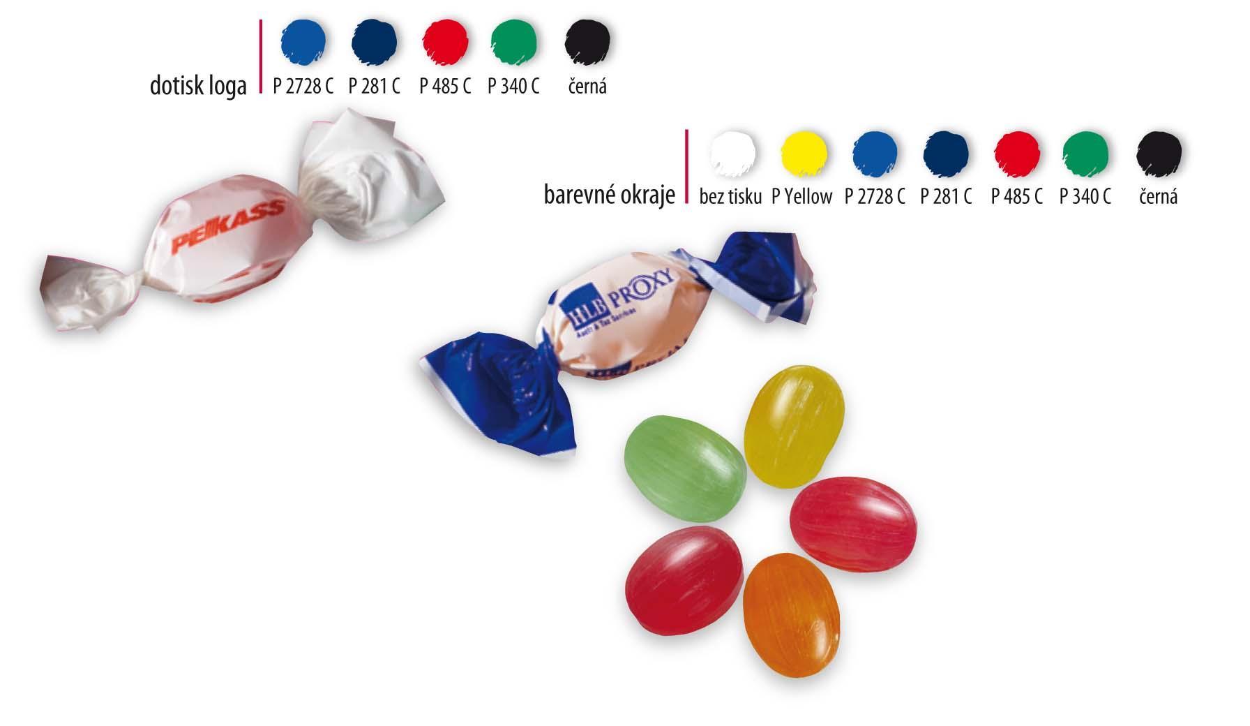 Twistové bonbóny - malonákladové