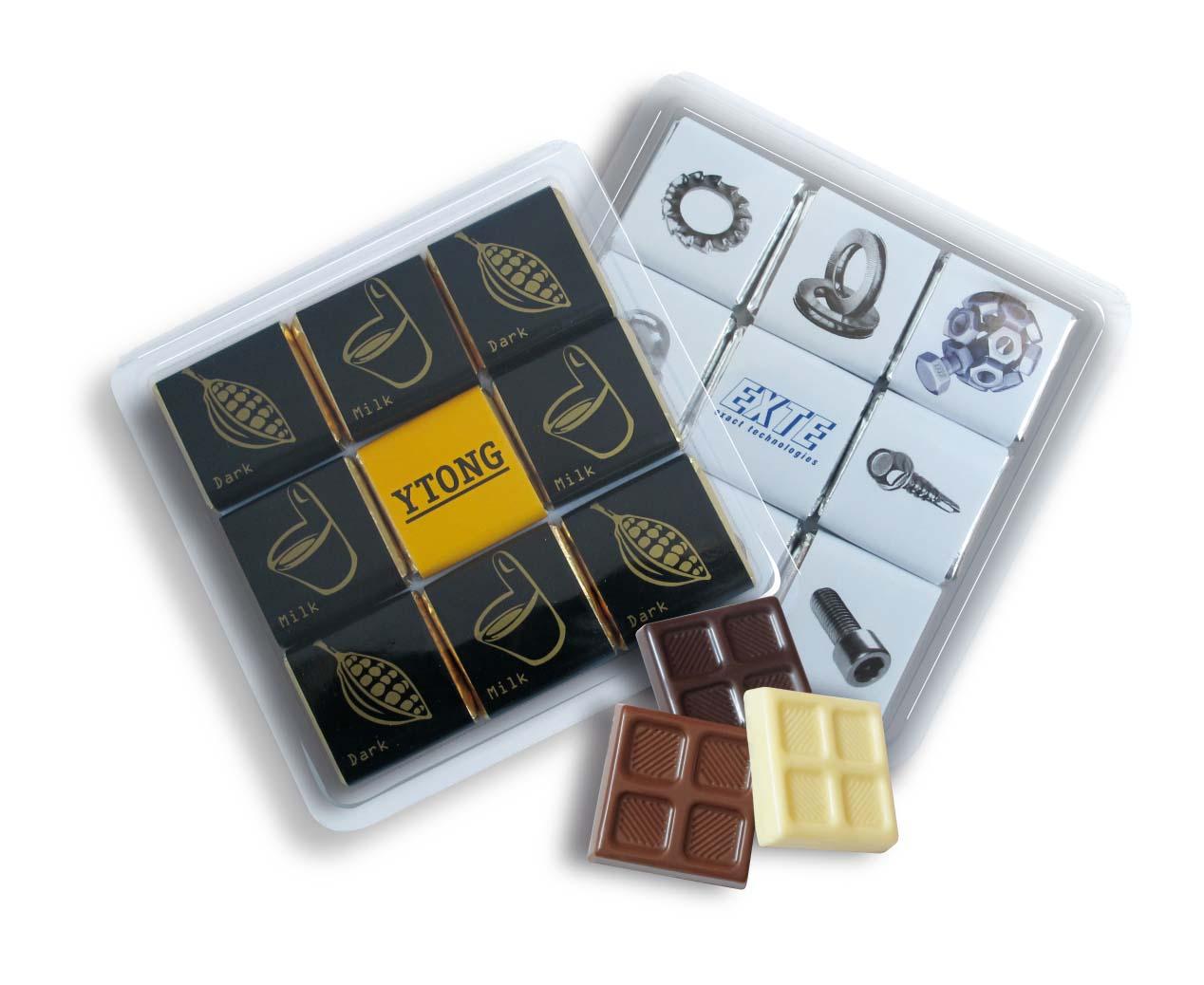 Čokoládová sada 9x5g plast