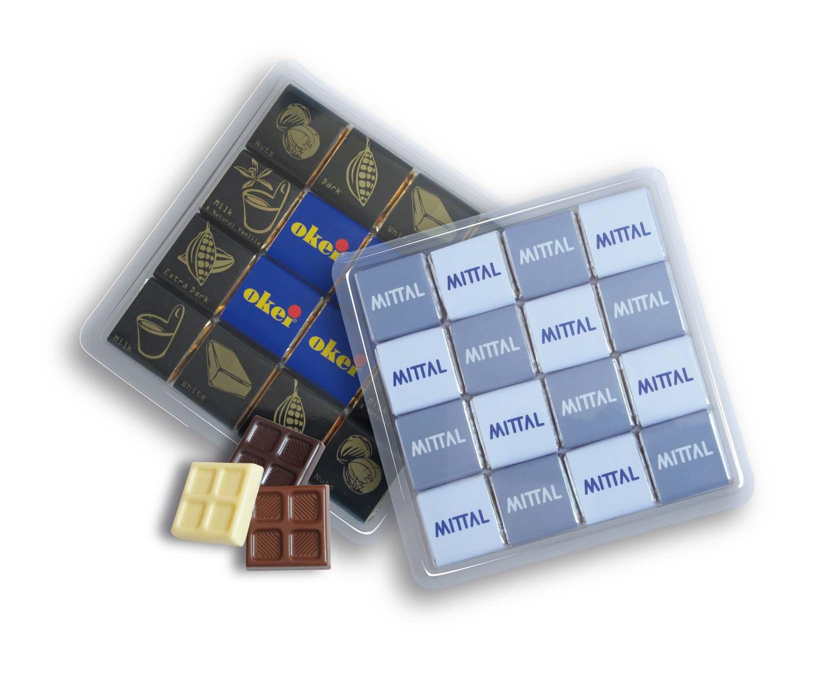 Čokoládová sada 16x5g plast