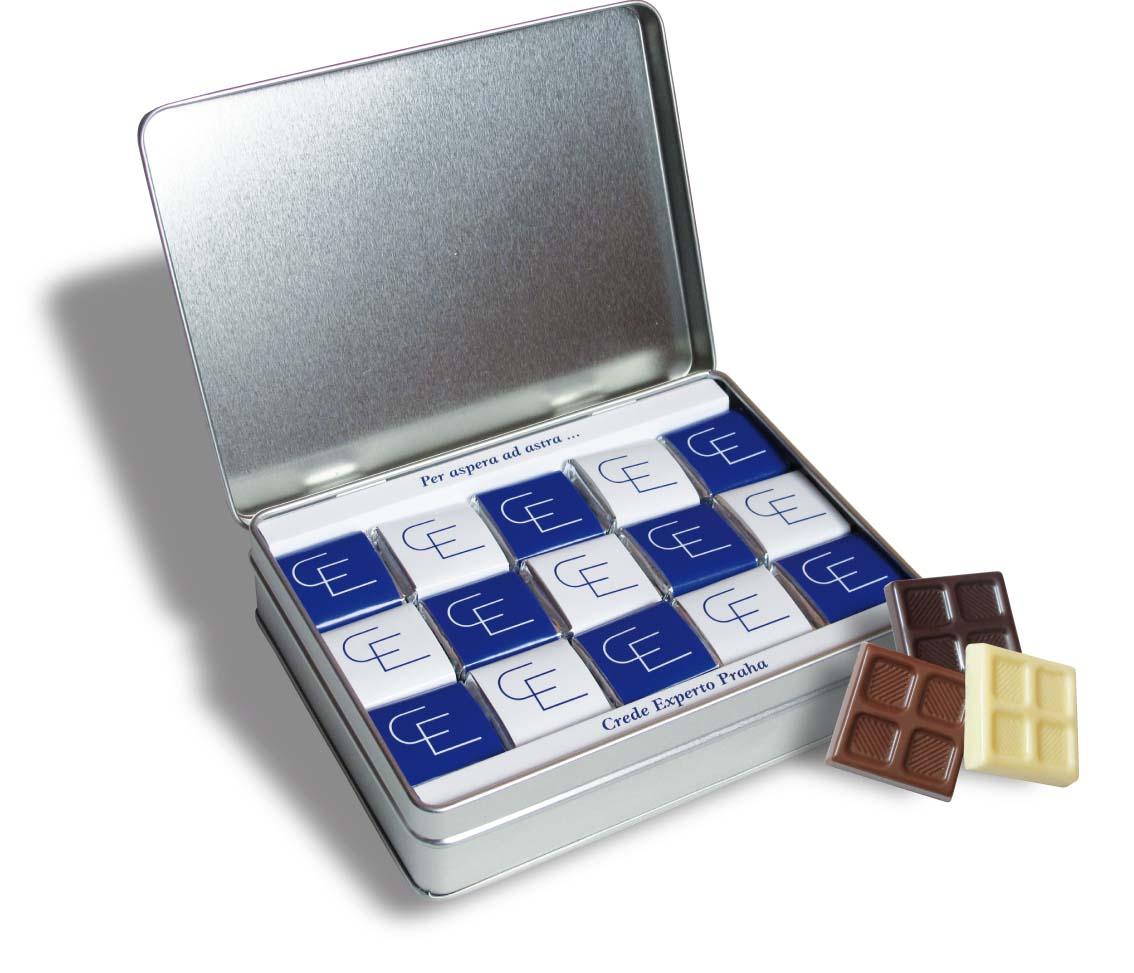 Čokoládová sada 45x5g plech