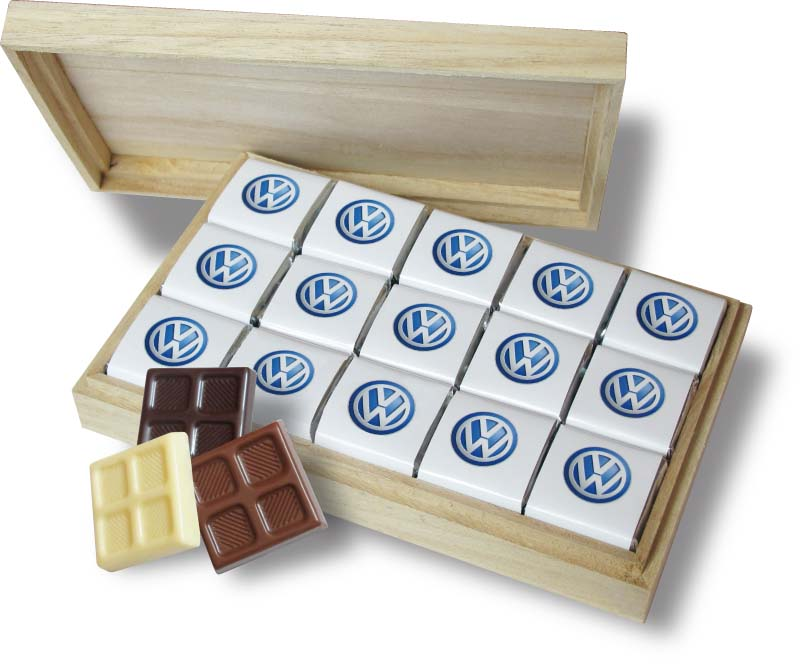 Čokoládová sada 45x5g dřevo
