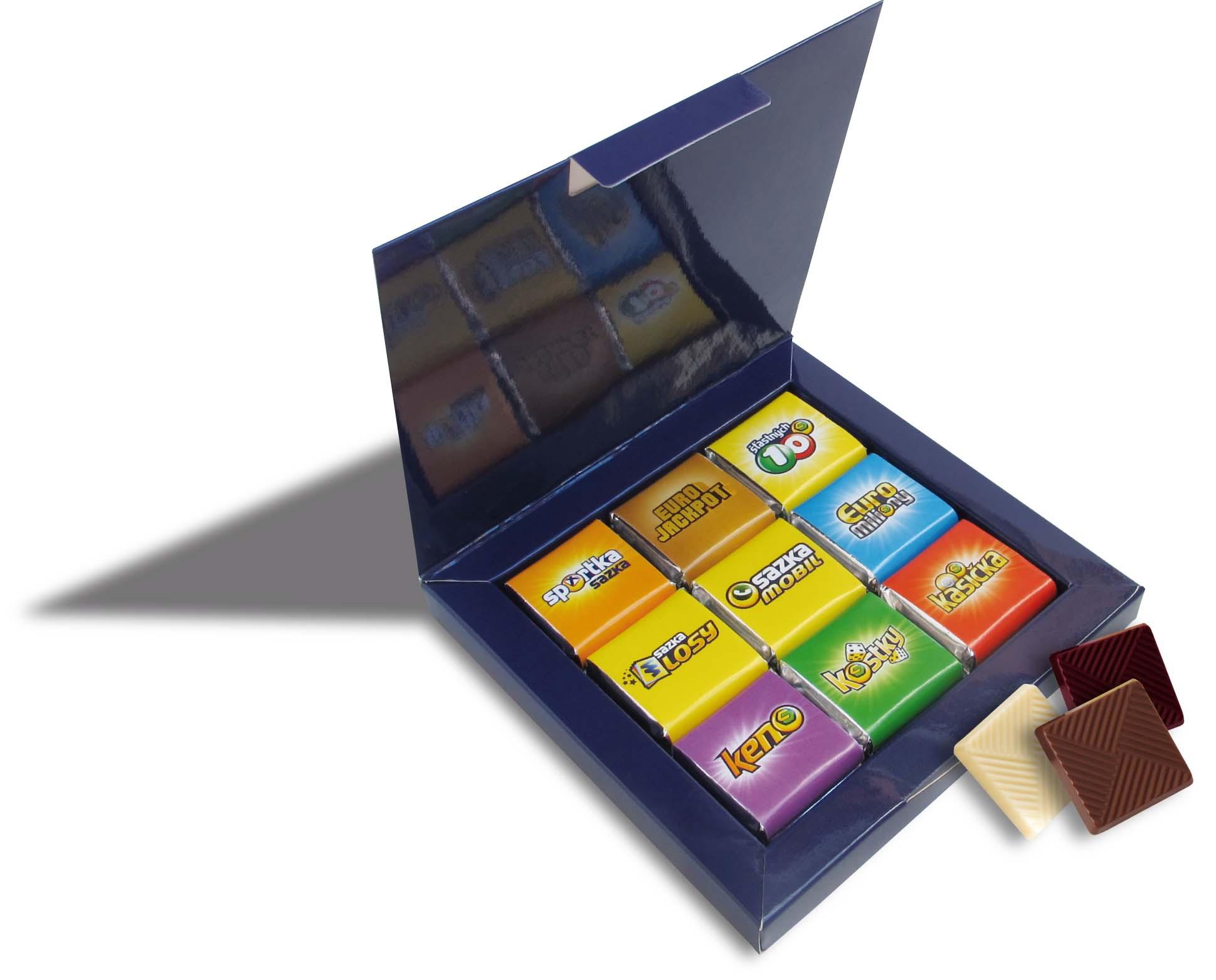 Čokoládová sada 9x5g krabička