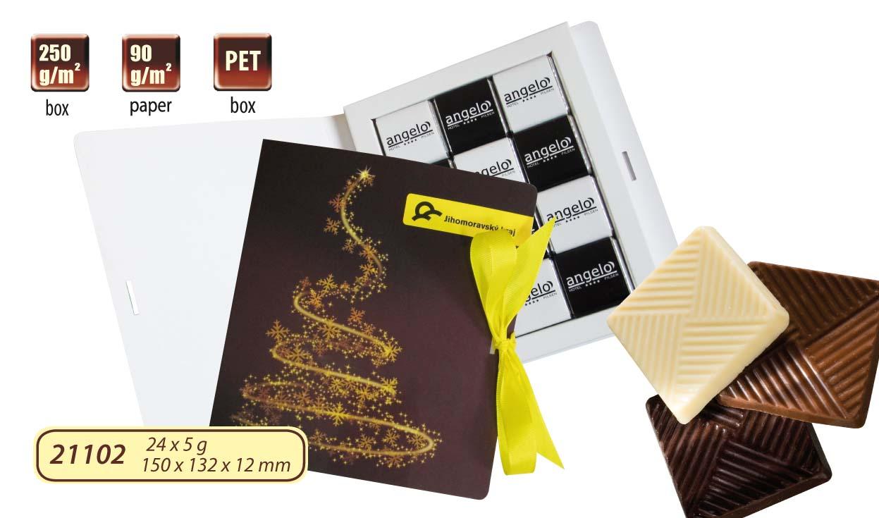 Čokoládová kniha 24x5g (12x5g), stuha