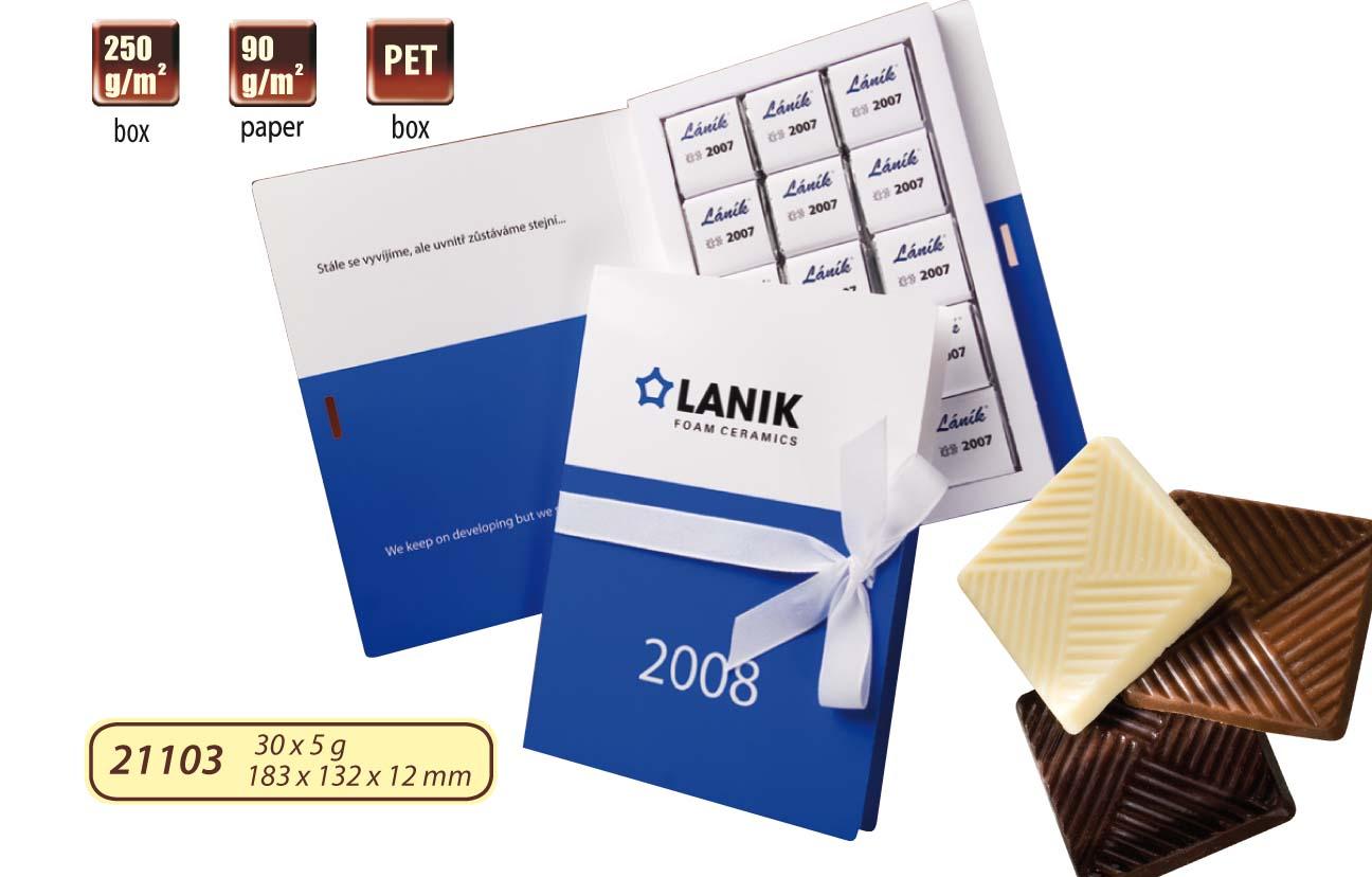 Čokoládová kniha 30x5g (15x5g), stuha