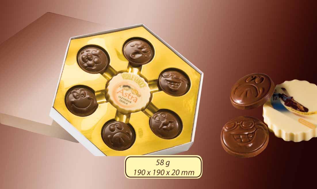 Čokoládová sada 6x6g + 1x22g