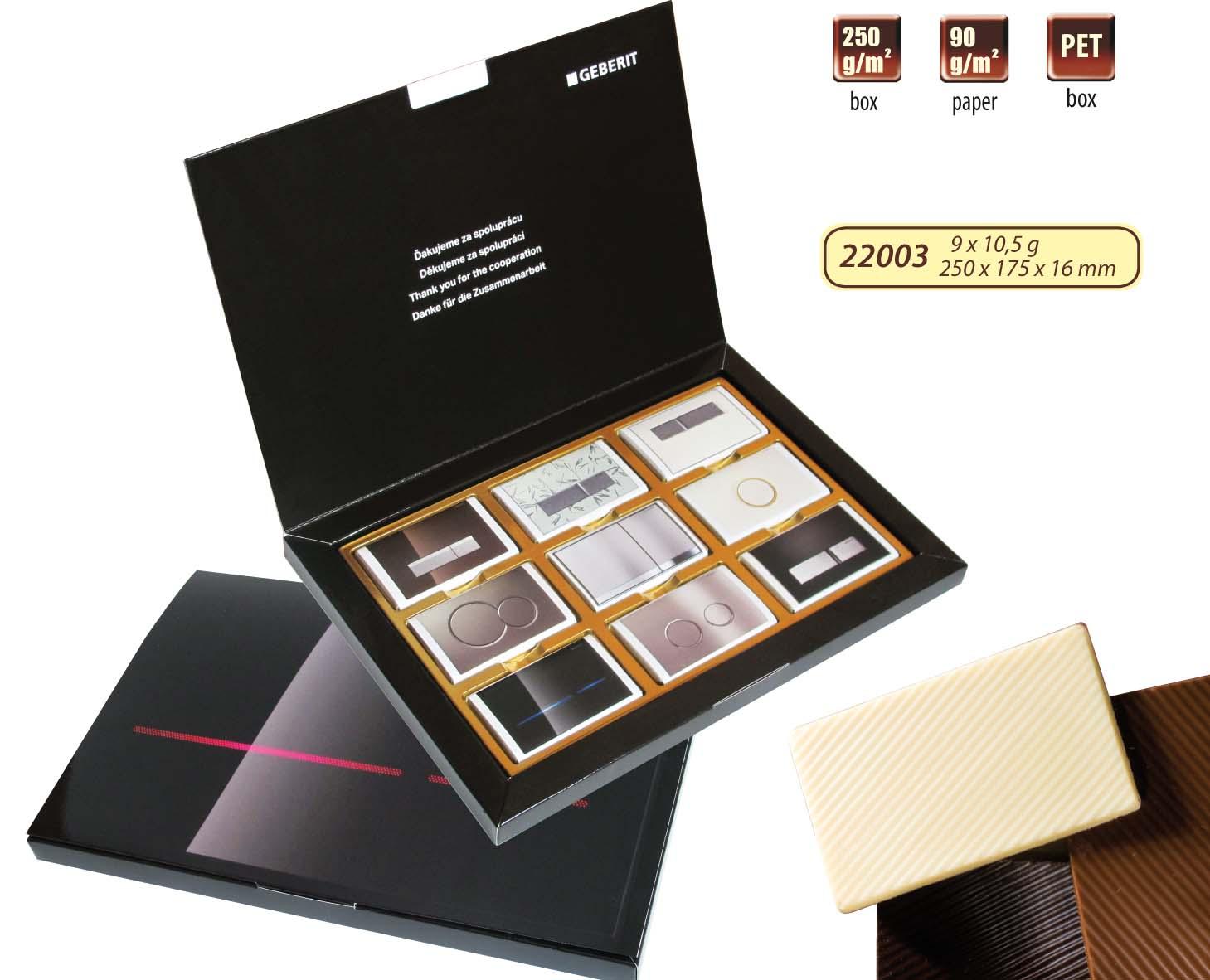 Čokoládová sada 9x10,5g krabička