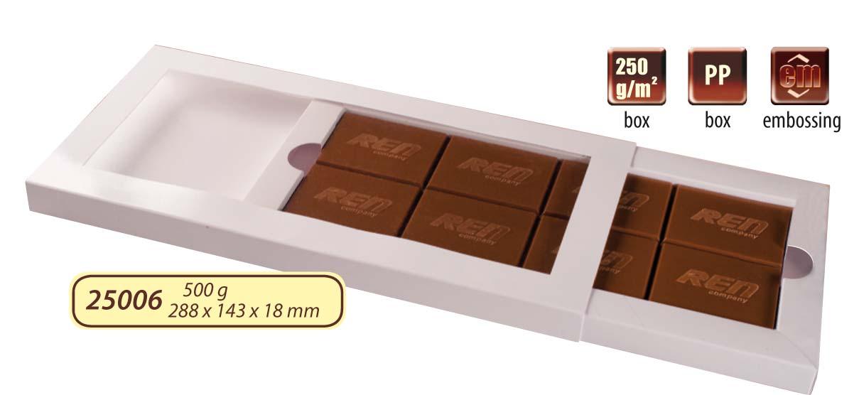 Čokoláda 500g s logem v čokoládě