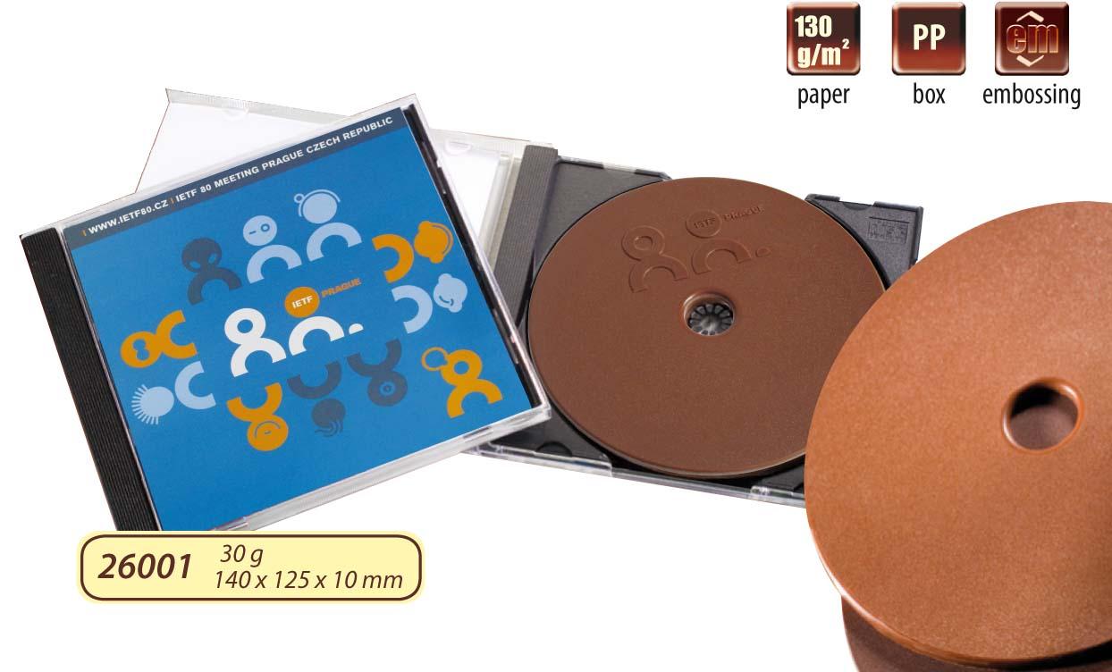 Čokoládové CD 35g v plastové krabičce