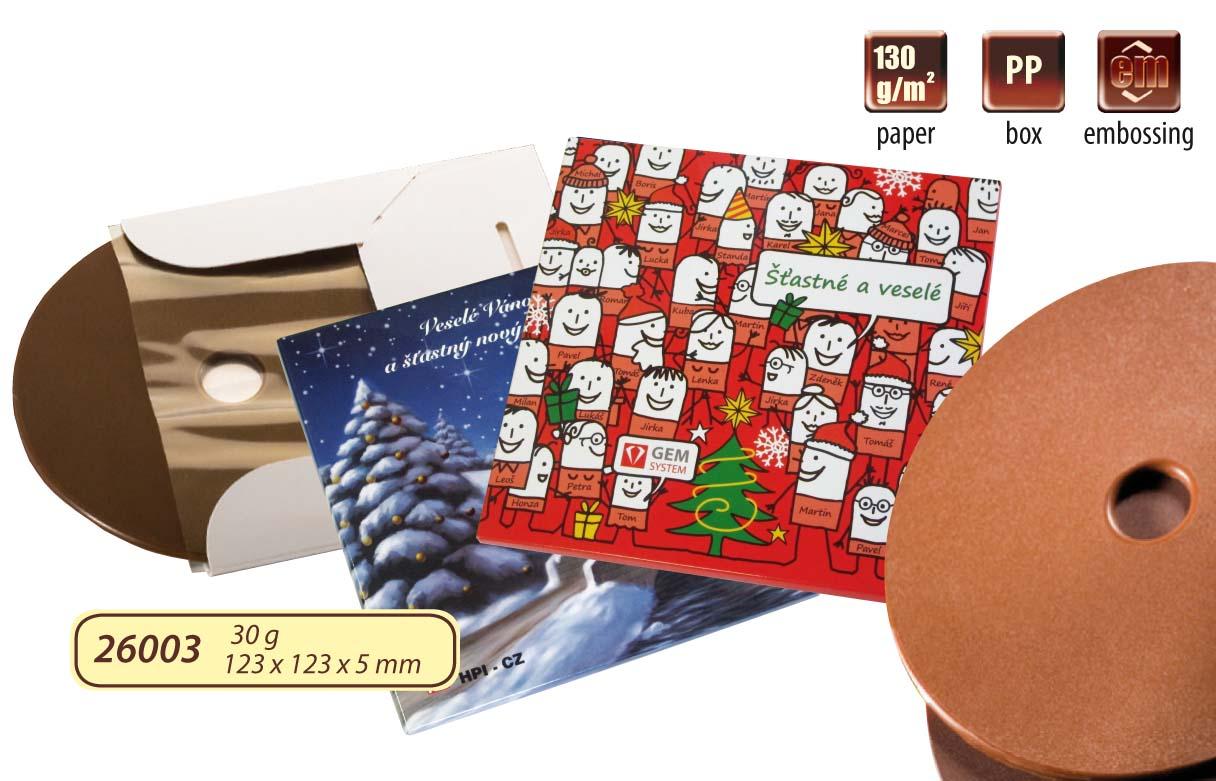Čokoládové CD 35g v papírové krabičce