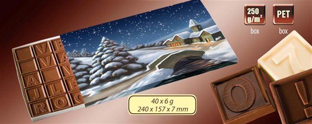 Čokoládová zpráva 40x6g
