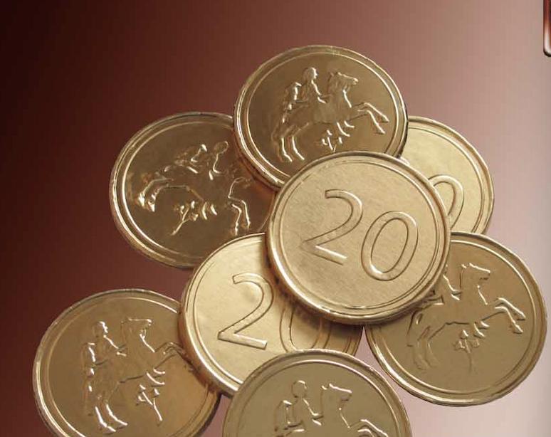 Čokoládová mince 3,6g