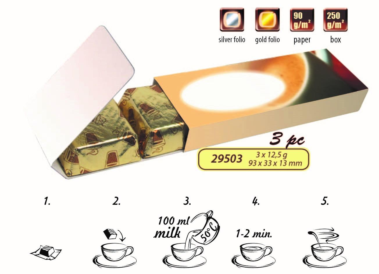 Horká čokoláda po 3ks v reklamní krabičce