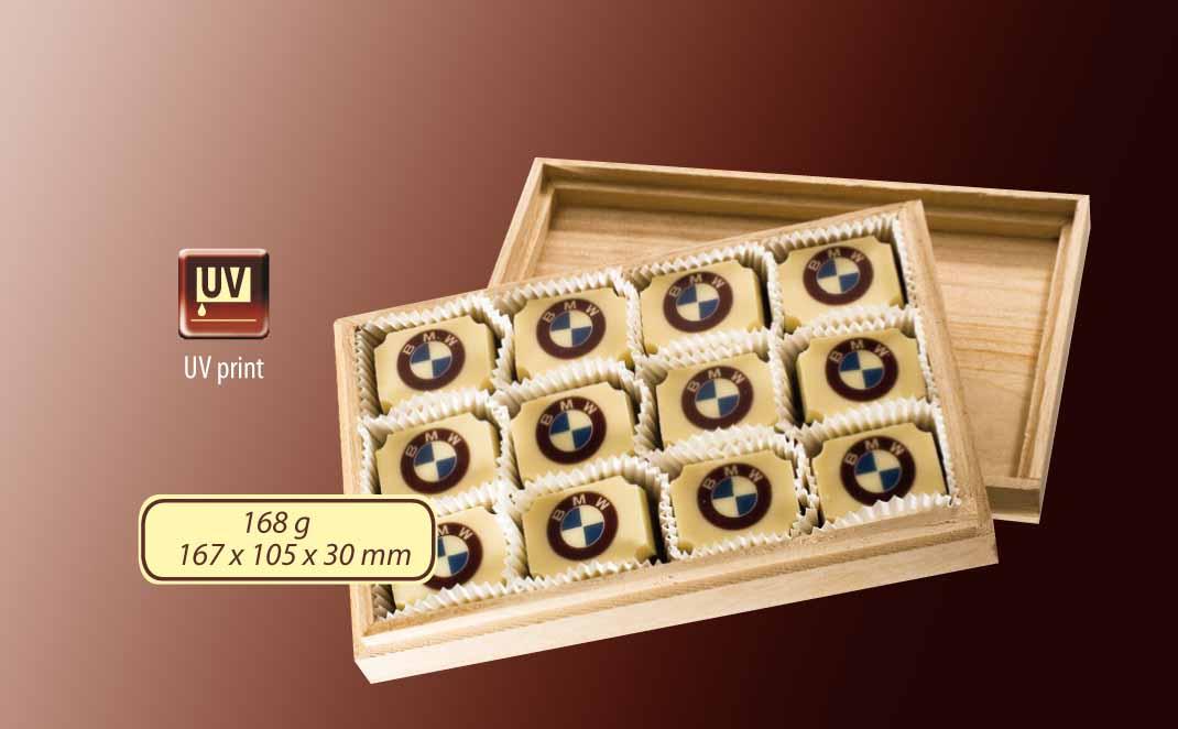 Dřevěná bonboniéra 12ks - 168g