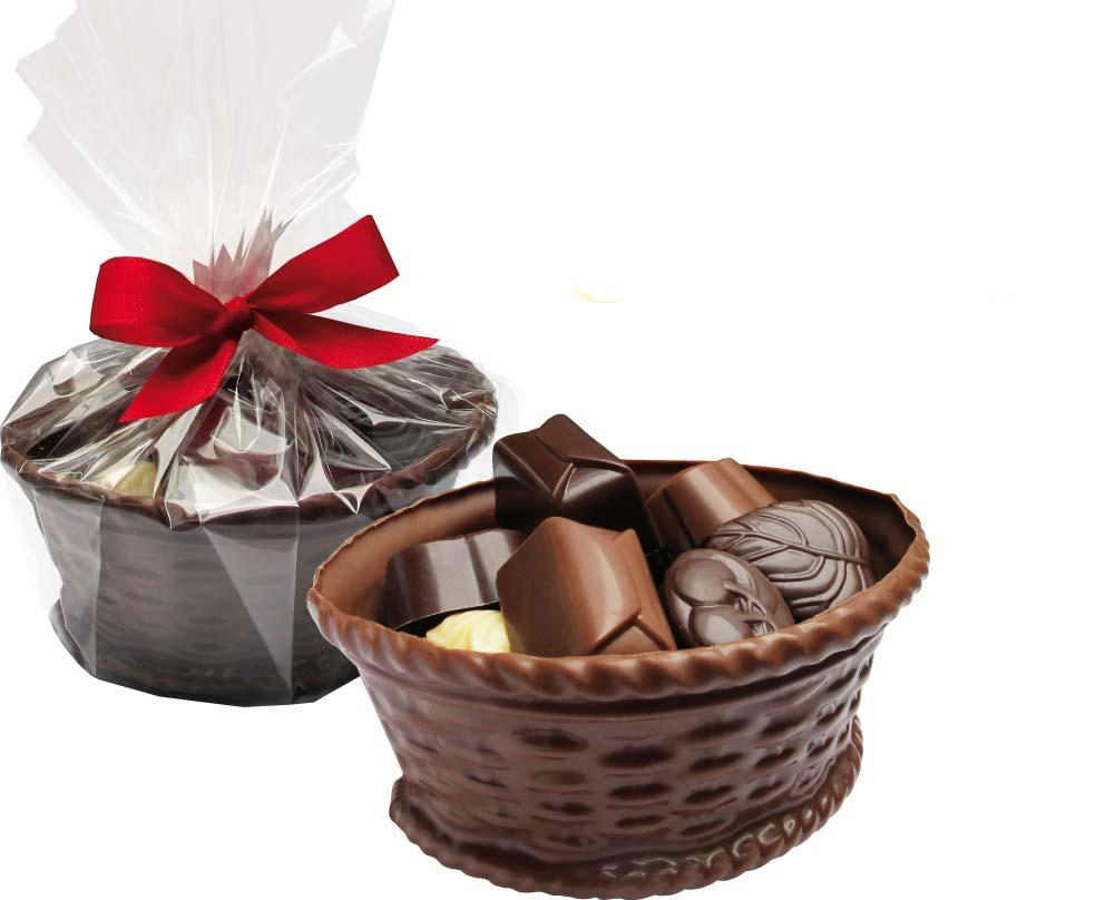 Čokoládový košíček s pralinkami 15ks - 270g