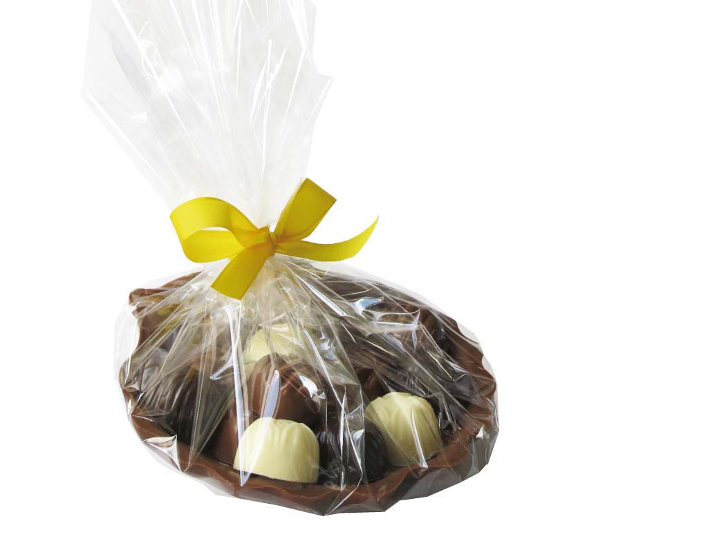 Čokoládová lastura s pralinkami 15ks- 270g